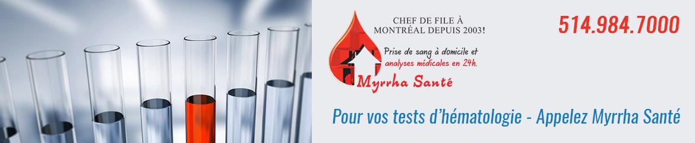 analyses médicales clinique Myrrha Santé