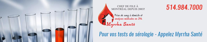 tests sanguins-sérologie