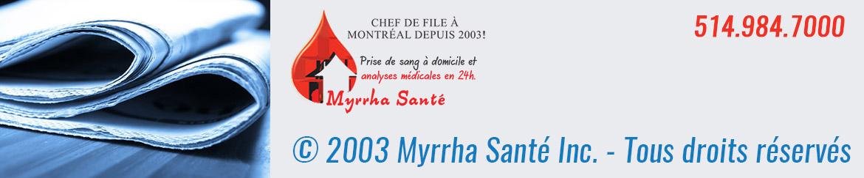 Mentions légales et autres formalités -© 2003 Myrrha Santé Inc. Tous Droits Réservés.