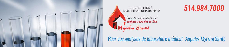 laboratoire médical et analyses de sang à titre diagnostique