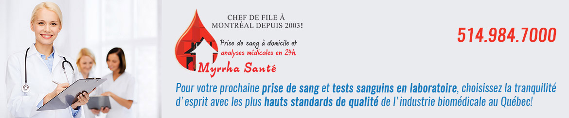 tests sanguins et autres analyses de sang en laboratoire médical