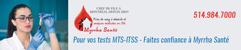 Test de dépistage itss et mts